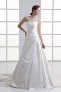 Elegantes langes A-Linie Ivory Brautkleider aus Satin