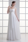 Modern Sweetheart Chiffon Empire Ruching Destination Wedding Dresses