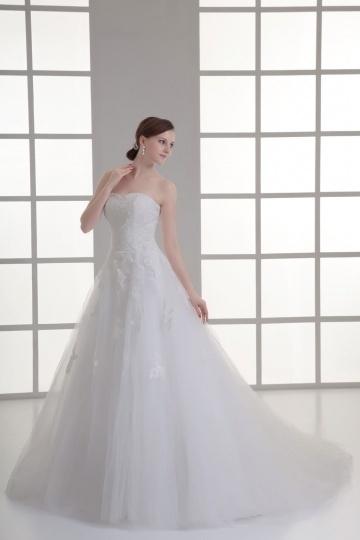 Vintages langes Sweetheart A-Linie Brautkleider aus Spitze Persun