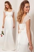 Neues Etui-Linie Sweetheart ivory Empire Brautkleider mit Cap-Ärmel