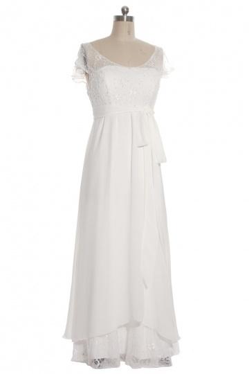 Elegantes ivory Empire Brautkleider aus Chiffon  mit Ärmel Persun