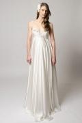 Sexy A-Linie V-Ausschnitt ivory Empire Brautkleider, Abendkleider für Schwangere