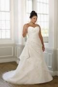 Weddingbuy Sweetheart Sheath Taffeta Lace Up Plus Size Wedding Dress