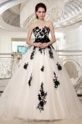 Luxus Prinzessin Stil Sweetheart Brautkleider mit Band verziert