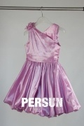 Pink V Neck A Line Short Flower Girl Dress