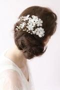 Blumen Perlen Haarschmuck Hochzeitssuite