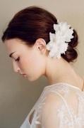 Braut Haarblüte Blume Ivory 2 Stücke