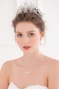 Schön Perlen Silbrig  Kette für Braut