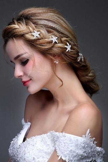 Süße Braut Stern Seestern Haarnadeln Haarspiralen 5 Stücke Persun