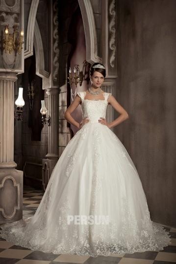 Empire Spitze bedeckt Ball gown Brautkleider Persun