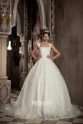 Empire Spitze bedeckt Ball gown Brautkleider