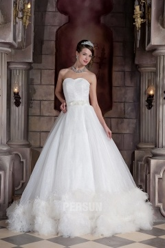 Robe mariage magnifique en organza