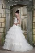 Modisch Rund-Ausschnitt Ärmelloses Brautkleider aus Satin