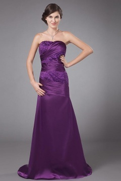 Silk Like Satin Mermaid Purple Mother Of the Bride Dresses