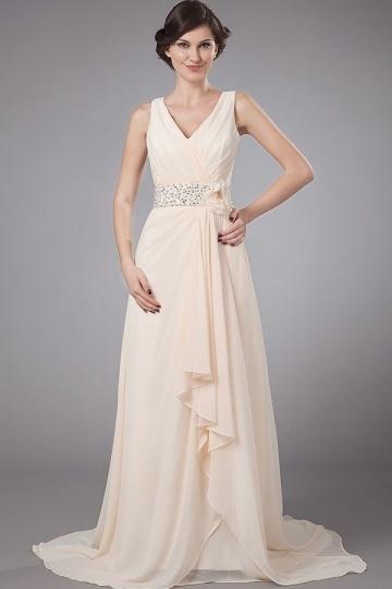 Vestido mãe do noivo marfim  pregueado com longo elegante