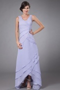 Simple V Neck A Line Chiffon Long Mother Of The Brides Dress