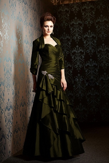 Long Sweetheart Taffeta Mother of the Bride Dress Including Jacket