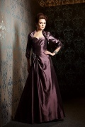 Taffeta A line Sweetheart Long Pleated Mother of the Bride Dress with Jacket
