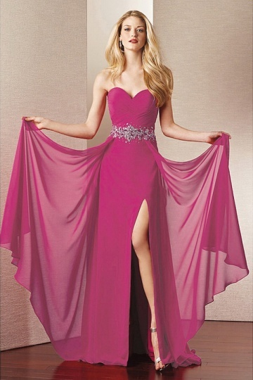 Sweetheart Beading Floor Length Chiffon Mother of the Bride Dress