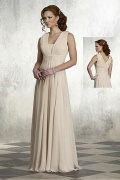 Chiffon A line Straps Floor Length Mother of the Bride Dress