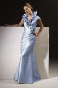 Magnifico lunghezza completa sirena  taffetà Abito da Mamma Sposa Con Tessuto di Prima Qualità Disegnata alla Moda