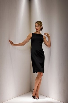 Westhoughton Succinct knee length black Mother of the Bride Dress