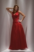 Elegant Floor Length V Neck A Line Red Mother of the Bride Dress
