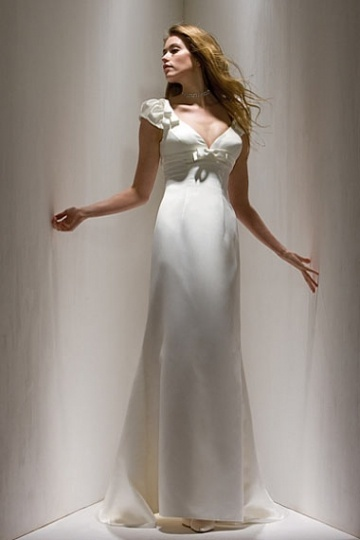 Elegant Satin Floor Length White Mother of the Bride Dress