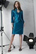 Elegant Taffeta Knee length Sheath Mother of the Bride Dress Including the jacket