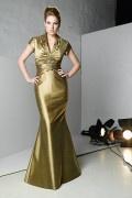 Langes Einziges Meerjungfrau stil Brautmutterkleid aus Taft