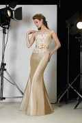 Elegant Taffeta Full Length Sheath Mother of the Bride Dress