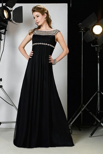 Dressesmall Elegant full length Chiffon Mother of the Bride Dress in Fashion Design