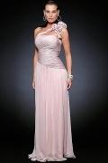 Elegantes A Linie 1 Schulter Brautmutterkleid aus Chiffon