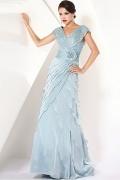 Gorgeous Chiffon & Lace A Line V Neckline Mother of the Bride Dress