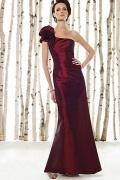 Fabulous Taffeta Sheath One Shoulder Red evening Dress UK