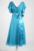 Fabulous Chiffon A Line V Neckline Mother of the Bride Dress with Buckle