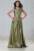 Fabulous Stretch Satin A Line Scoop Neckline Floor length Beadings Mother of the Bride Dress