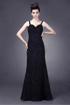 Stratford upon Avon Elegant 3/4 Sleeve Length Gown in Black