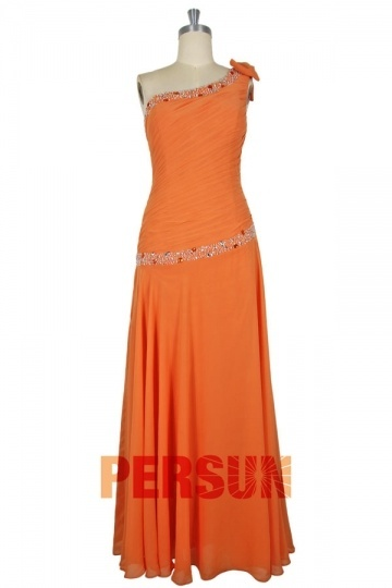 Dressesmall Full Length Chiffon Mother of the Bride Dress with Rhinestones Decoration