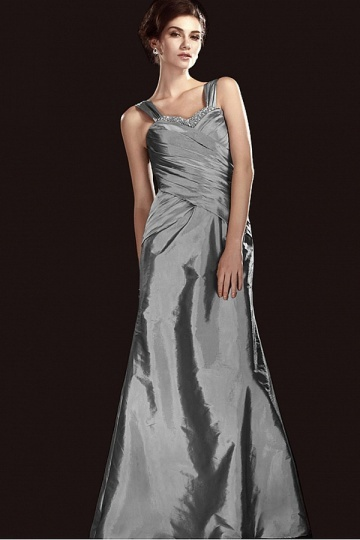 Dressesmall Sexy Taffeta A line Sweetheart Neckline Beading Pleats Floor Length Mother of the Bride Dress