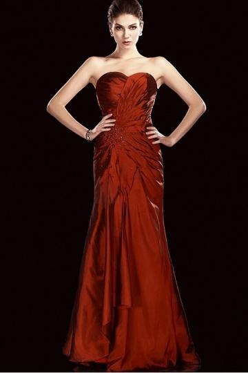 Dressesmall Stunning Taffera Sheath Column Sweetheart Floor Length Mother of the Bride Dress
