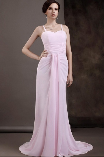 Dressesmall Charming Chiffon Sheath Sweetheart Strapped Mother of the Bride Dress With Tulle Shawl