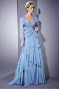 Vestido de mãe de casamento decote em coração Sem alça decorado de lantejoula