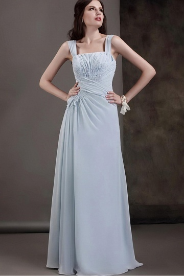Dressesmall Fashionable Chiffon A line Square Neck Floor Length Mother of the Bride Dress