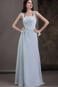 Fashionable Chiffon A line Square Neck Floor Length Mother of the Bride Dress