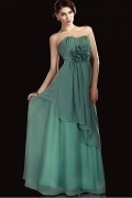Romantic Chiffon A line Flowers Empire Waist Sweetheart Neckline Floor Length Mother of the Bride Dress