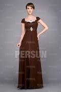 Modern Beading Full Length Short Sleeve Mother of the Bride Dress