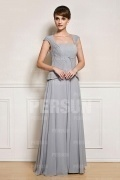 Modern False Two Pieces Grey Ruching Short Sleeve Mother of the Bride Dress