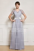 Floor length Short sleeves Chiffon mother of the bride dress