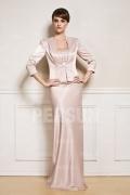 Elegant lang Etui-Linie Trägerlos Abendkleid mit Jacke